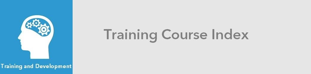 Training Course Index